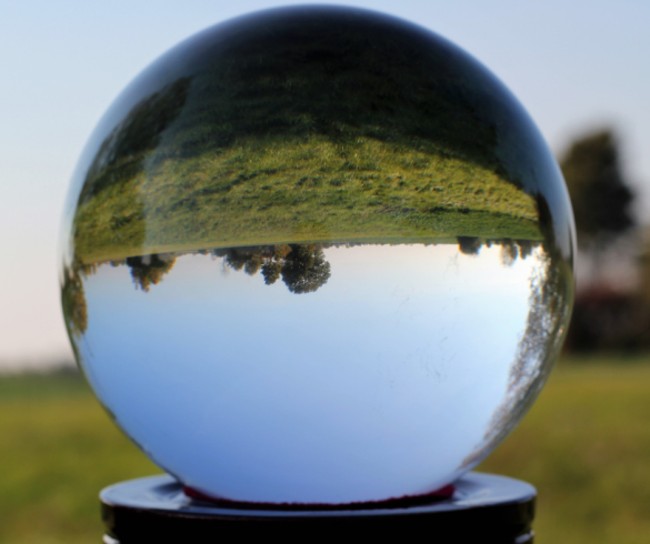 Crystal ball used in fortune telling. Psychic junkie.